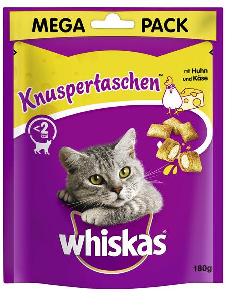 WHISKAS Katzensnack »Knuspertaschen™«, 180 g, Huhn/Käse