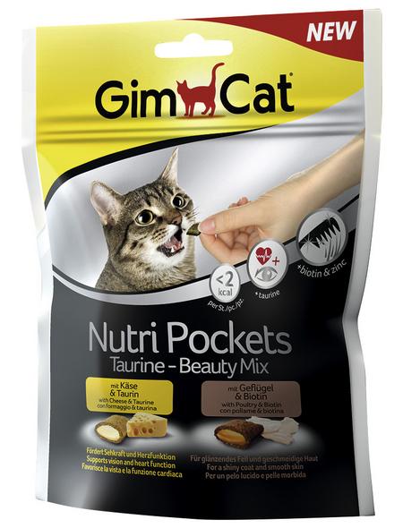 GIMCAT Katzensnack »Nutri Pockets «, Geflügel/Käse, 150 g