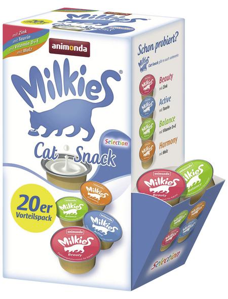 MILKIES Katzensnack »Selection«, 4 Stück, je 0,3 kg, Milch