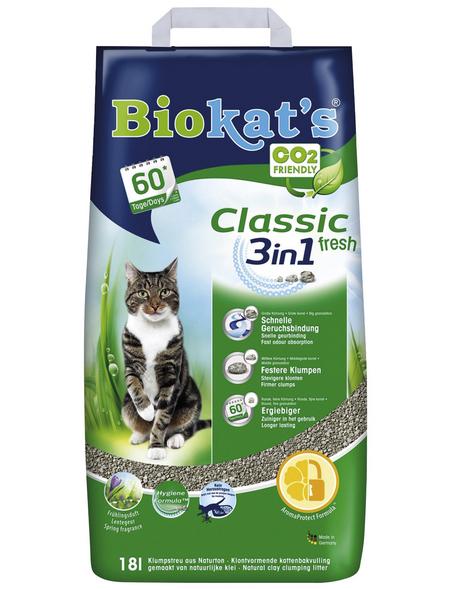BIOKAT'S Katzenstreu »3in1«, 1 Sack, 17,952 kg