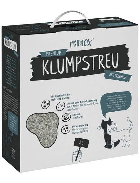 PRIMOX Katzenstreu »Klumpstreu Aktivkohle«, 1 Karton, 7,5 kg