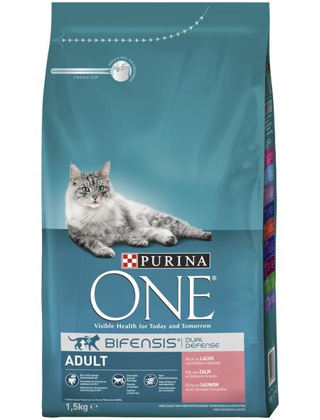 Purina ONE® Katzentrockenfutter »Adult«, Lachs, 1,5 kg