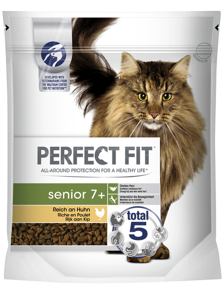 PERFECT FIT™ Katzentrockenfutter, Huhn, 6 Beutel
