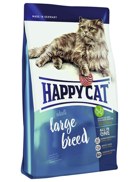 HAPPY CAT Katzentrockenfutter »Large Breed«, Geflügel / Rind / Lamm, 10 kg