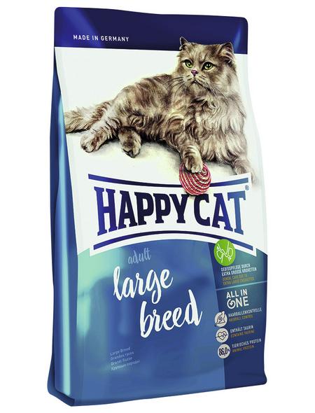 HAPPY CAT Katzentrockenfutter »Large Breed«, Lamm / Geflügel, 4x1,4 kg