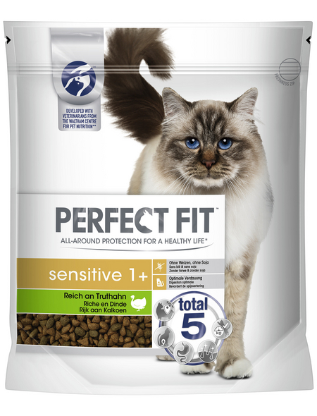 PERFECT FIT™ Katzentrockenfutter »Sensitiv 1+«, 4 Beutel