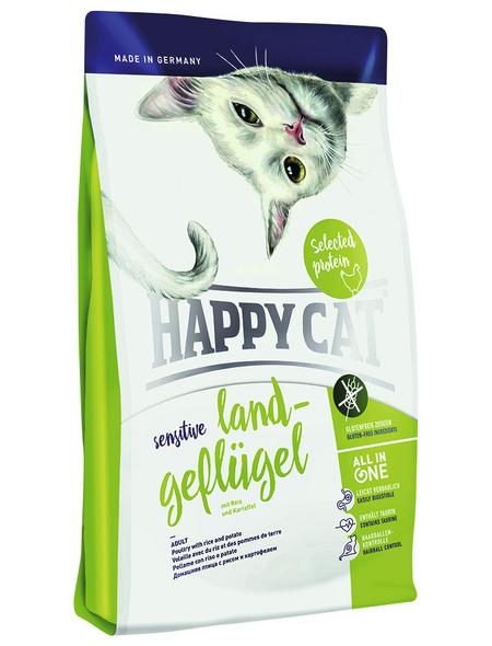 HAPPY CAT Katzentrockenfutter »Sensitive «, Geflügel, 4 kg
