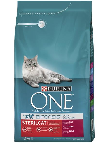 Purina ONE® Katzentrockenfutter »Sterilcat«, Rind, 1,5 kg