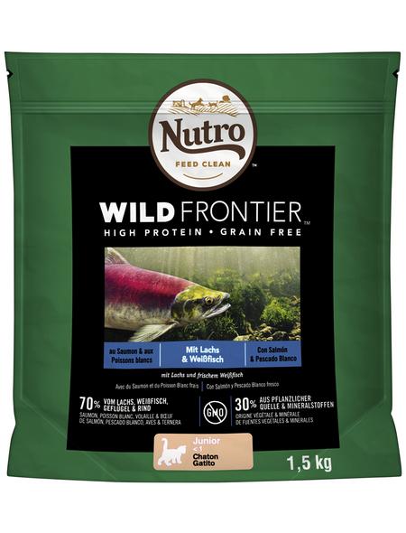 NUTRO Katzentrockenfutter »Wild Frontier«, Lachs / Weißfisch, 4 x 1,5 kg