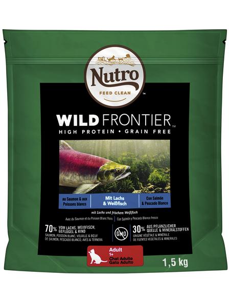 NUTRO Katzentrockenfutter »Wild Frontier«, Lachs / Weißfisch, 4x1,5 kg