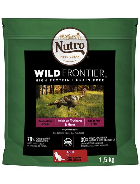 NUTRO Katzentrockenfutter »Wild Frontier«, Truthahn / Huhn, 4 x 1,5 kg
