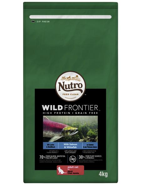 NUTRO Katzentrockenfutter »Wild Frontier«, Weißfisch / Lachs,  3 x 4 kg