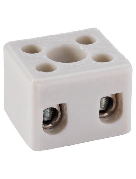 Keramikklemme, Keramik, Weiß, 2x 2,5 - 4 mm²