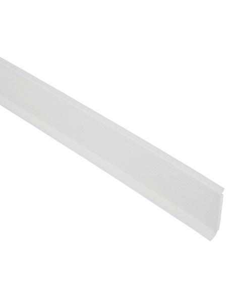 FN NEUHOFER HOLZ Kernsockelleiste, Uni weiß, Kunststoff, LxHxT: 250 x 6 x 1,4 cm