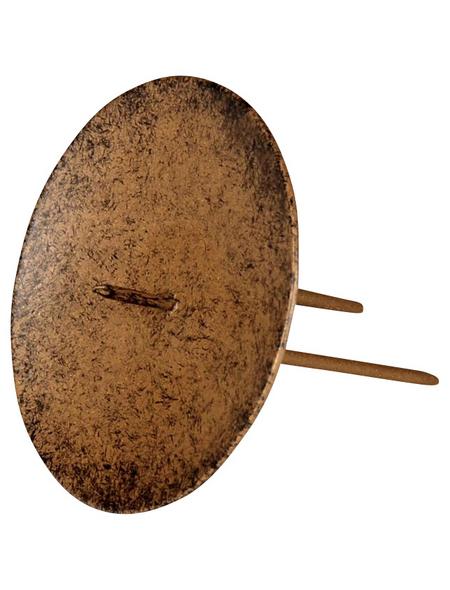 Kerzenhalter, zum Stecken, dunkelbraun, Ø: 6,5 cm
