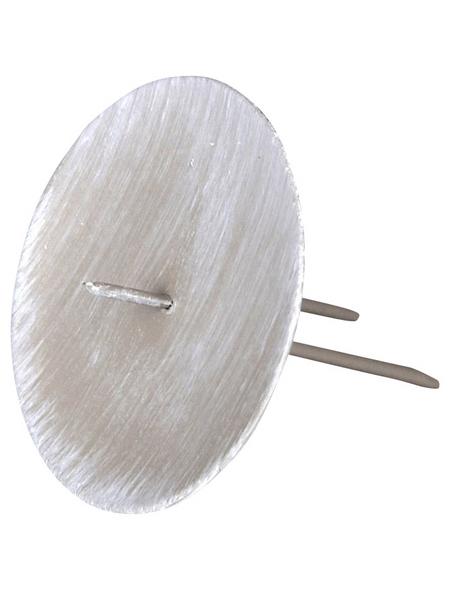 Kerzenhalter, zum Stecken, grau, Ø: 6,5 cm
