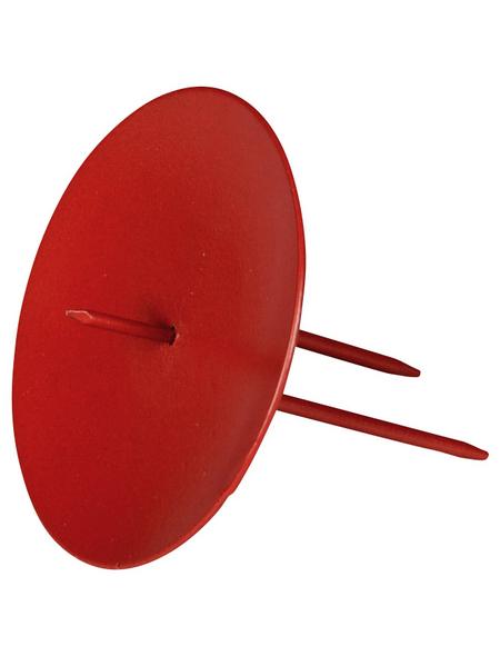 Kerzenhalter, zum Stecken, rot, Ø: 6,5 cm
