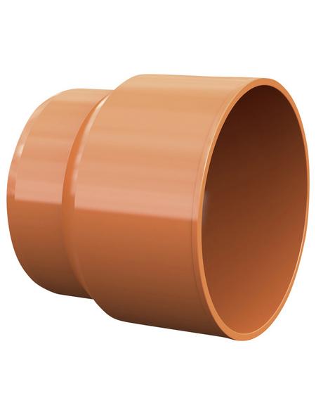 KG-Anschlussstück, Nennweite: 125 mm, Hart-PVC