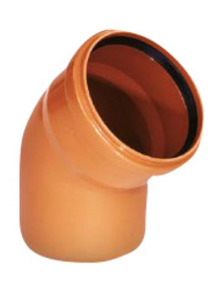 KG-Bogen, Nennweite: 125 mm, Hart-PVC