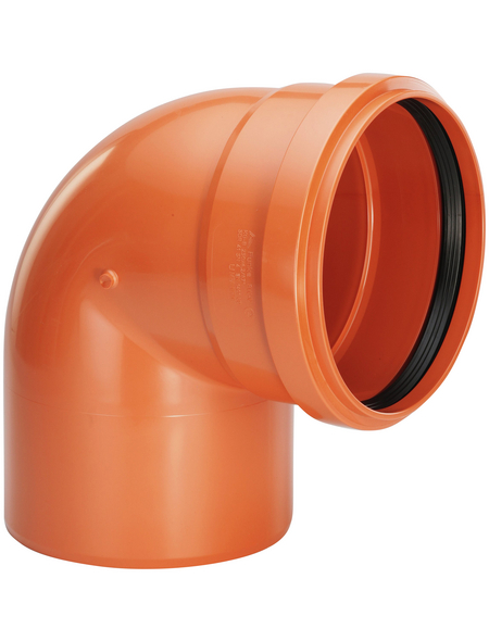KG-Bogen, Nennweite: 160 mm, Hart-PVC