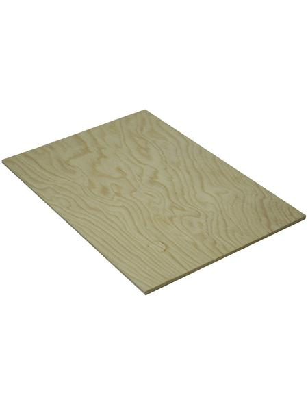 Kiefer Sperrholzplatte, 2500x1250x4 mm, Natur