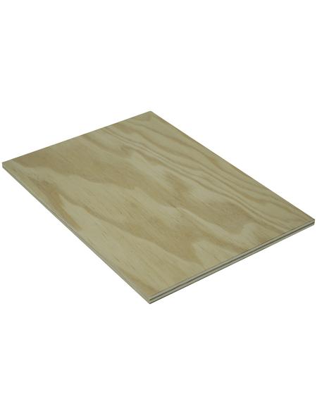 Kiefer Sperrholzplatte, 2500x1250x8 mm, Natur