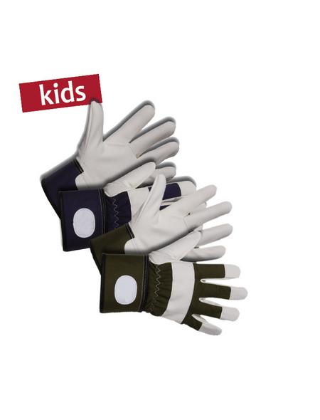 KIXX Kinder-Baumwollhandschuhe »Kinder«, gruen/weiss