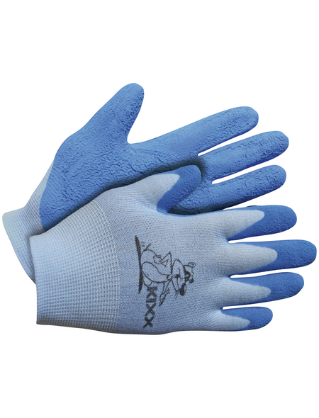 KIXX Kinder Nylonhandschuhe »Kinder Nylon/Latex«, blau