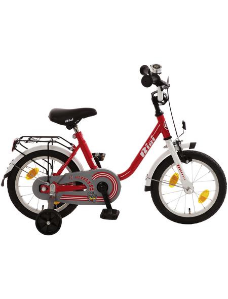 BACHTENKIRCH Kinderfahrrad »Bibi«, 1 Gang, U-Type Rahmen, Rot-Weiß