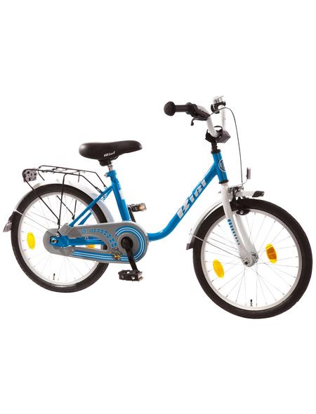 BACHTENKIRCH Kinderfahrrad »Bibi«, 1 Gang, U-Type Rahmen, Weiß-Blau