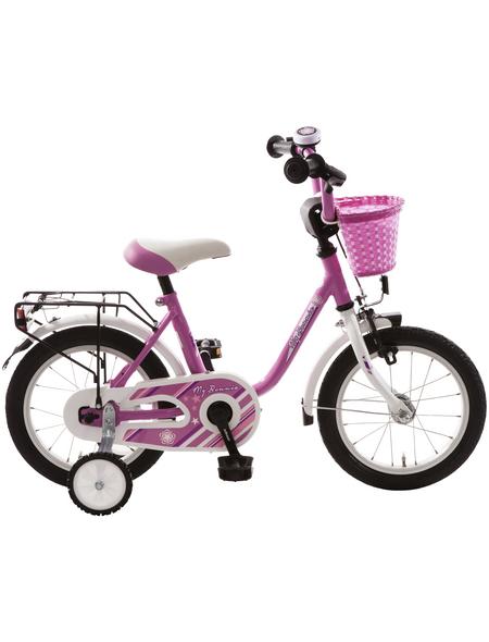 BACHTENKIRCH Kinderfahrrad »My Bonnie«, 1 Gang, U-Type Rahmen, Pink-Weiß