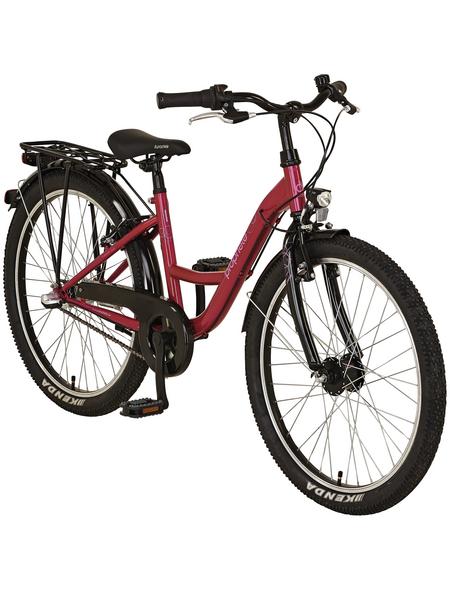 PROPHETE Kinderfahrrad »PROPHETE Kids Bike «, 3 Gänge, Nabenschaltung, Wave-Type Rahmen, Himbeerrot