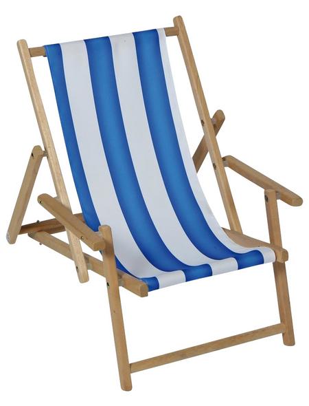 SUNGÖRL Kinderliegestuhl, Breite: 46  cm, Polyester/ Holz