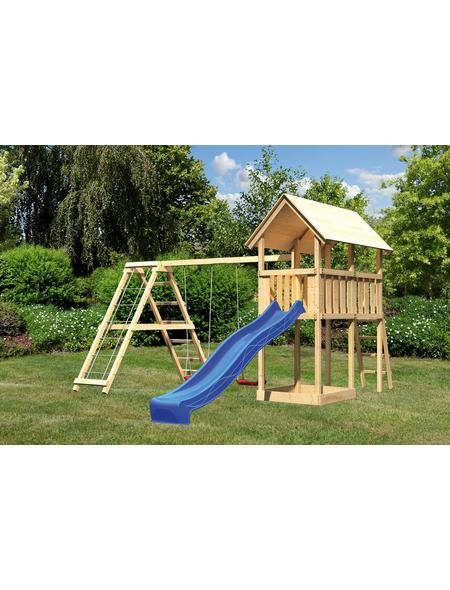 AKUBI Kinderspielanlage »Danny« mit Rutsche, Schaukel, Kletterwand
