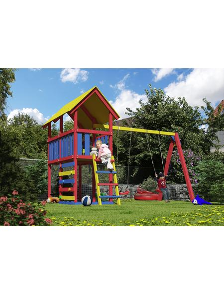 AKUBI Kinderspielanlage »Danny« mit Schaukel, Kletterwand