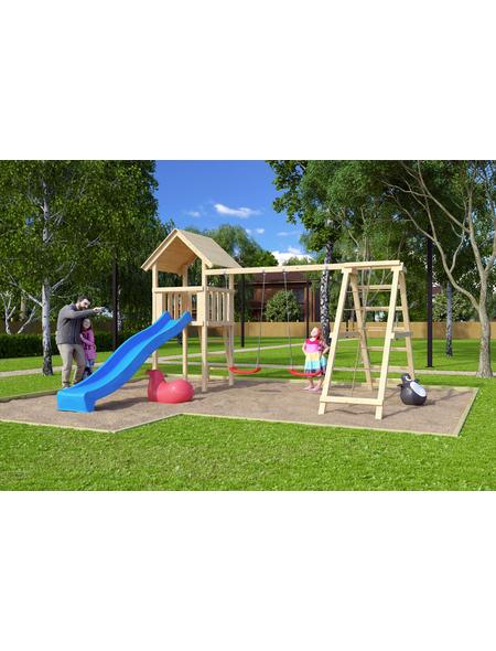 AKUBI Kinderspielanlage »Lotti« mit Rutsche, Schaukel, Kletterwand