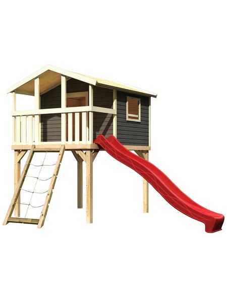 AKUBI Kinderspielanlage Stelzenhaus  »Benjamin« mit Rutsche, Netzrampe