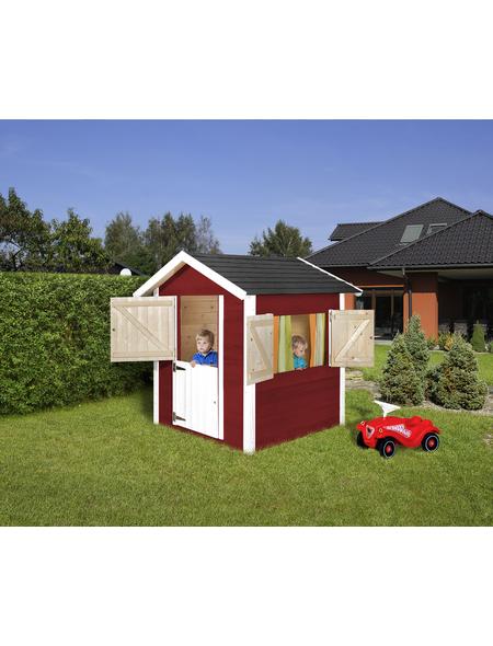 WEKA Kinderspielartikel, BxHxT: 144 x 154 x 153 cm, Holz, schwedischrot/weiß