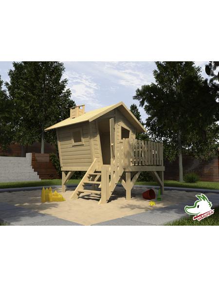 WEKA Kinderspielartikel, BxHxT: 214,5 x 216 x 223,5 cm, Holz, natur