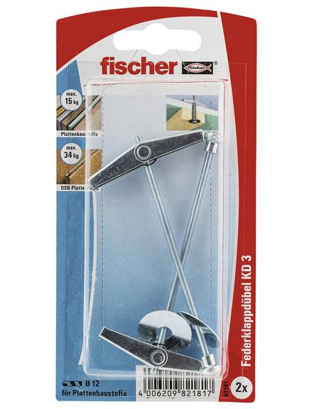 FISCHER Kipp- und Federklappdübel, 2 Stück, 12 mm