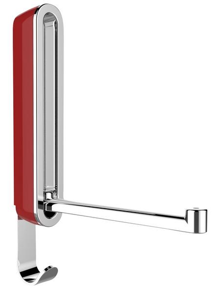 WENKO Klapphaken »Premium Sigma«, rot/silberfarben