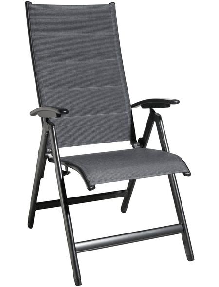 CASAYA Klappsessel »Lacona«, BxHxT: 57 x 115 x 74 cm, Aluminium/Textil