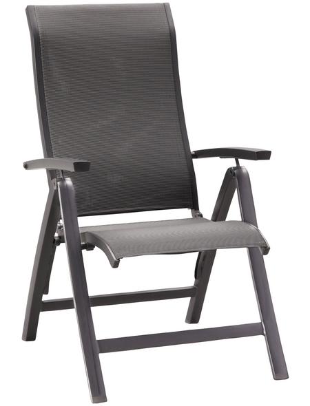 BEST Klappsessel »Larino«, BxHxT: 62 x 110 x 68 cm, Aluminium