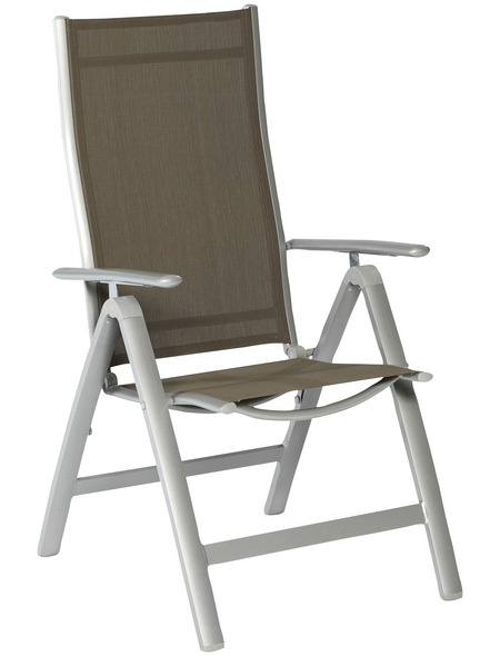 Klappstuhl »Carrara«, BxTxH: 60 x 70 x 108 cm, Aluminium/ Textil