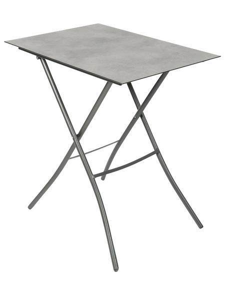 SUNGÖRL Klapptisch mit Hpl-Tischplatte, BxLxH: 50x70x67 cm