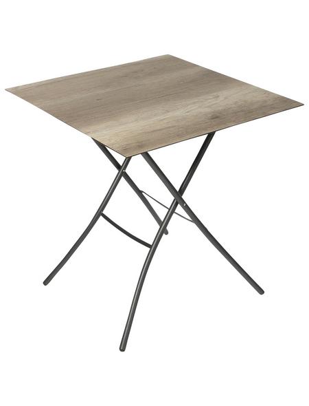 SUNGÖRL Klapptisch mit Hpl-Tischplatte, BxLxH: 67 x 67 x 73 cm