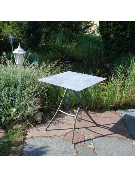 SUNGÖRL Klapptisch mit Hpl-Tischplatte, BxLxH: 70x70x67 cm