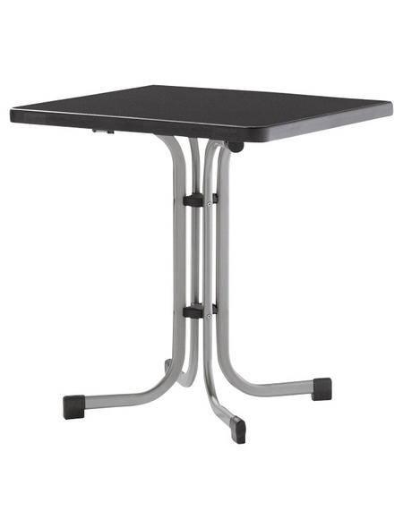 SIEGER Klapptisch mit Kunststoff-Tischplatte, BxLxH: 70x70x72 cm