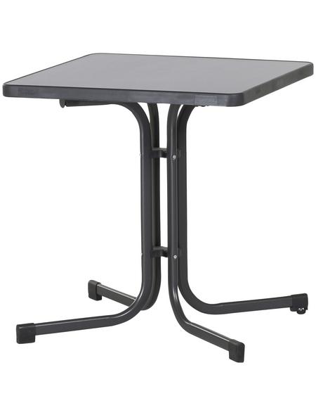 SIEGER Klapptisch mit Mecalit®-pro-Tischplatte, BxTxH: 70 x 70 x 72 cm