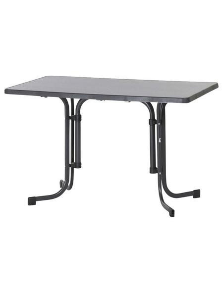 SIEGER Klapptisch mit Mecalit®-pro-Tischplatte, BxTxH: 70 x 72 x 72 cm